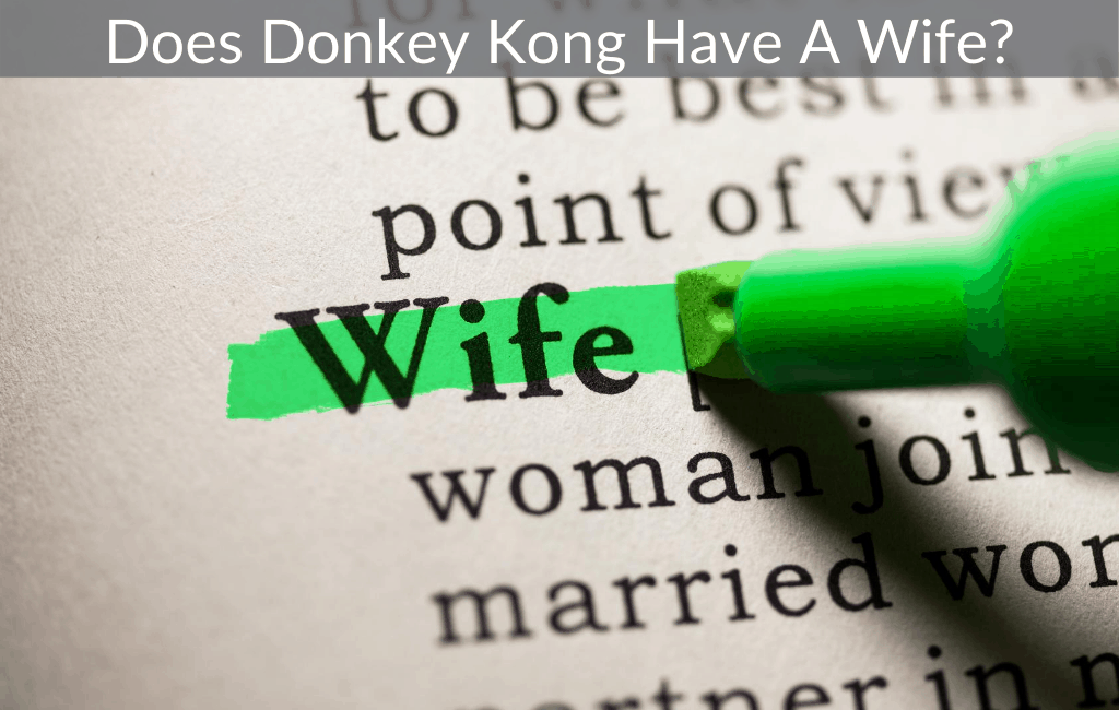 Does Donkey Kong Have A Wife?
