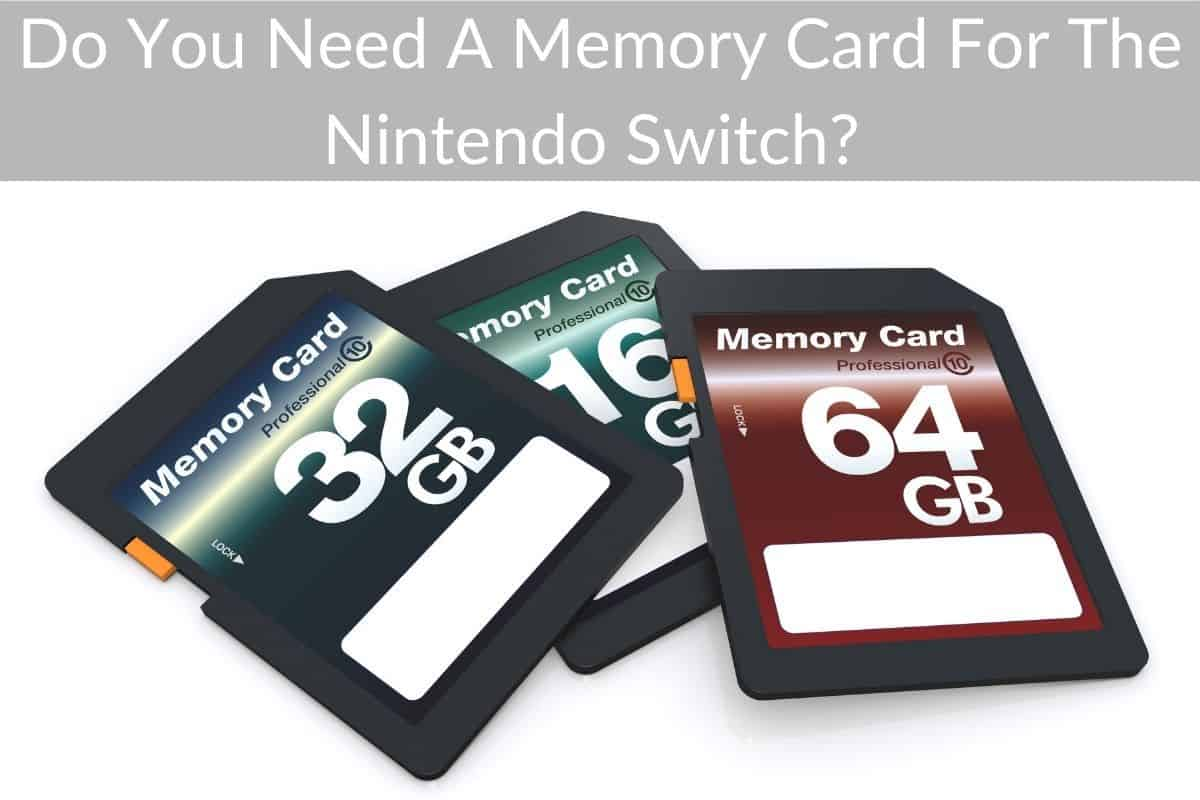 Do You Need A Memory Card For The Nintendo Switch?